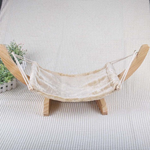 Natural Wooden Handmade Cat Bed Hammock - ZLIFEA