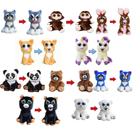 FEISTY FUNNY EXPRESSION PETS PLUSH TOY - ZLIFEA