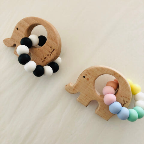 ADD ON ITEM - Lulu & Lala Silicone and Wood Teether - Delivered