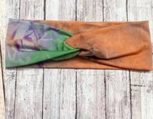 Stretch  Tie Dye Twisted Headband in Assorted Colors