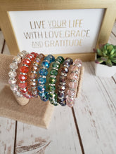 """Arm Candy"" Faceted Stretch Bead Bracelet - Assorted Colors"