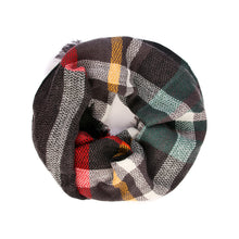 "Infinity Plaid Scarf ""Midnight Madness"" Black Plaid"