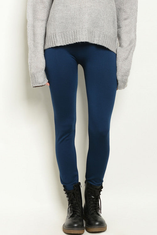 Soft Lined Leggings in Navy