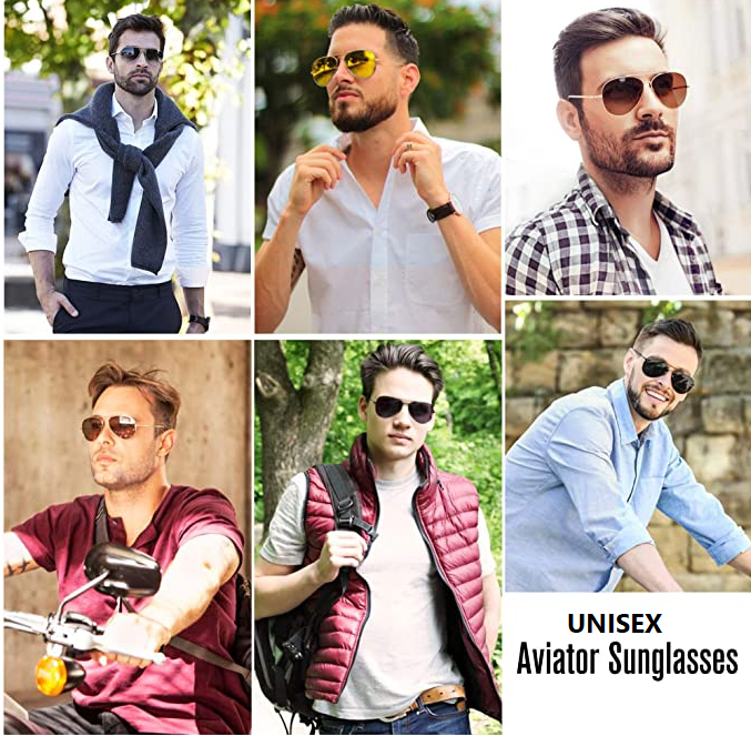 Aviators~ Spring Hinged Temple Pilot Aviator - in Black, Smoke or Amber Lens