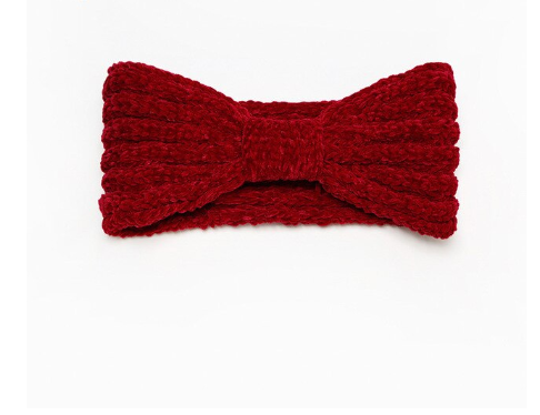 JUST A FEW LEFT! Winter Chenille Headband- Bow Design in  Assorted Colors