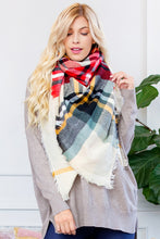 "Fashion Blanket Scarf Woven Plaid  ""Bundled Up Beauty"""