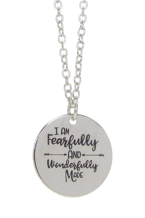I am Fearfully and Wonderfully Made Necklace