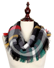 """Midnight Madness"" Infinity Plaid Scarf"