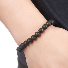 Lava Stone Bead Essential Oil Diffuser Bracelet in assorted colors
