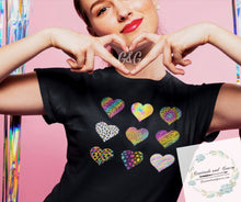 """Lisa Frank Hearts"" TEE ***MADE TO ORDER FOR YOU!"