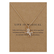 """Life is Magical"" Unicorn Pendant Necklace"