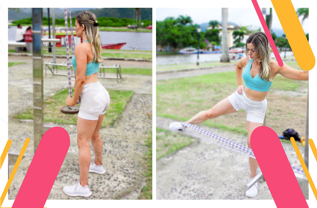 Full Body Resistance Band Outdoor Workout