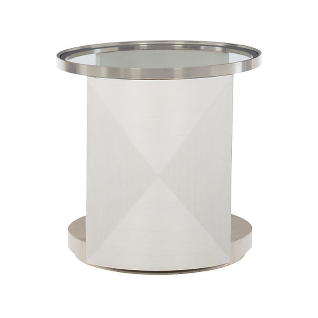 Axiom Round Glass Top Side Table