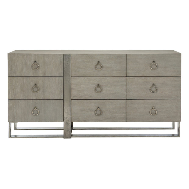 Linea Nine Drawer Dresser - Greige