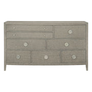 Linea Eight Drawer Bowed Dresser - Greige