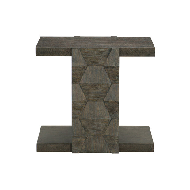Linea Square End Table - Charcoal