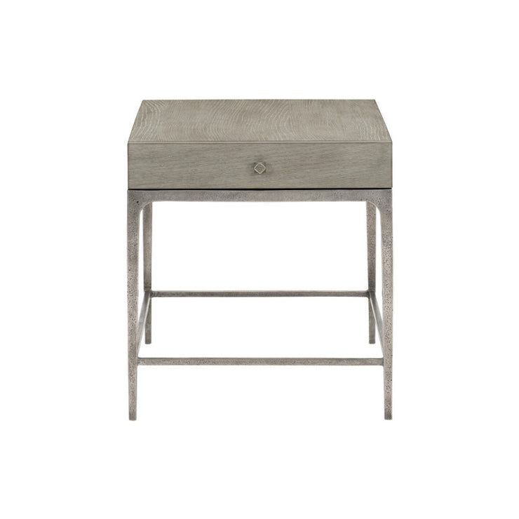 Linea Drawer End Table - Greige