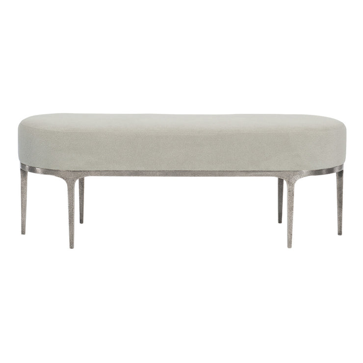 Linea Upholstered Metal Bench