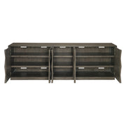 Linea Five Door Entertainment Console - Charcoal