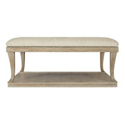 Rustic Patina Upholstered Coffee Table - Light