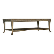 Rustic Patina Rectangular Coffee Table - Dark