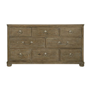 Rustic Patina Eight Drawer Dresser - Dark