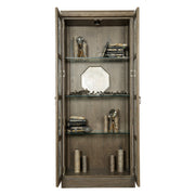 Rustic Patina Display Cabinet - Light