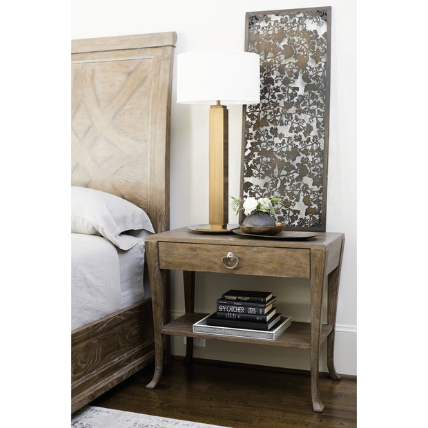 Rustic Patina One Drawer Nightstand - Light