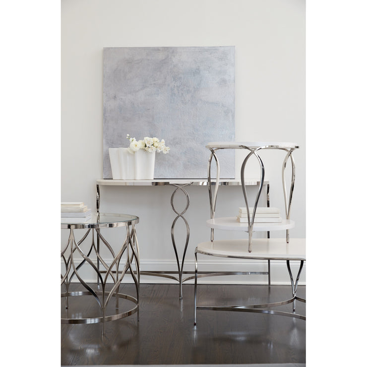 Calista Metal Demilune Console Table