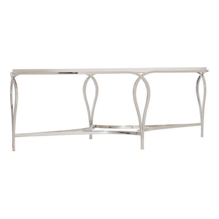Calista Metal Oval Coffee Table