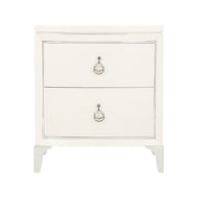 Calista Two Drawer Bowed Nightstand