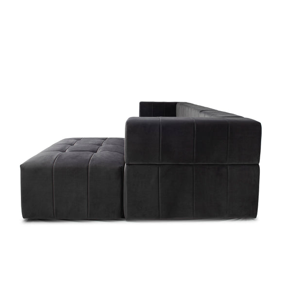 Orpheus Sectional Sofa - Charcoal Velvet