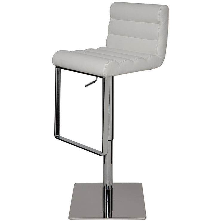 Fanning Adjustable Stool - White