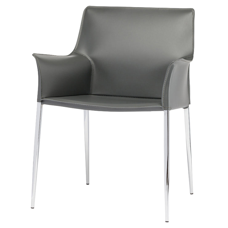 Colter Dining Arm Chair - Dark Grey