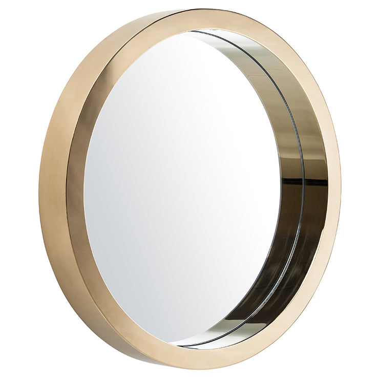 "Julia 24"" Round Wall Mirror - Gold"