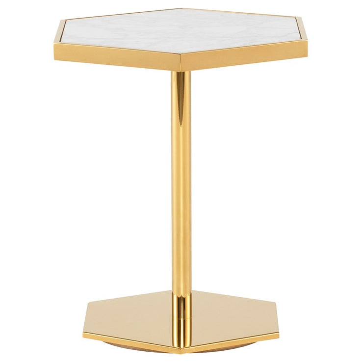 Ciarra Side Table - White
