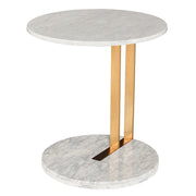 Lia Side Table - White