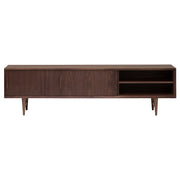 Elisabeth Sliding Media Unit Cabinet - Walnut