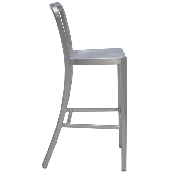 Soho Bar Stool - Silver