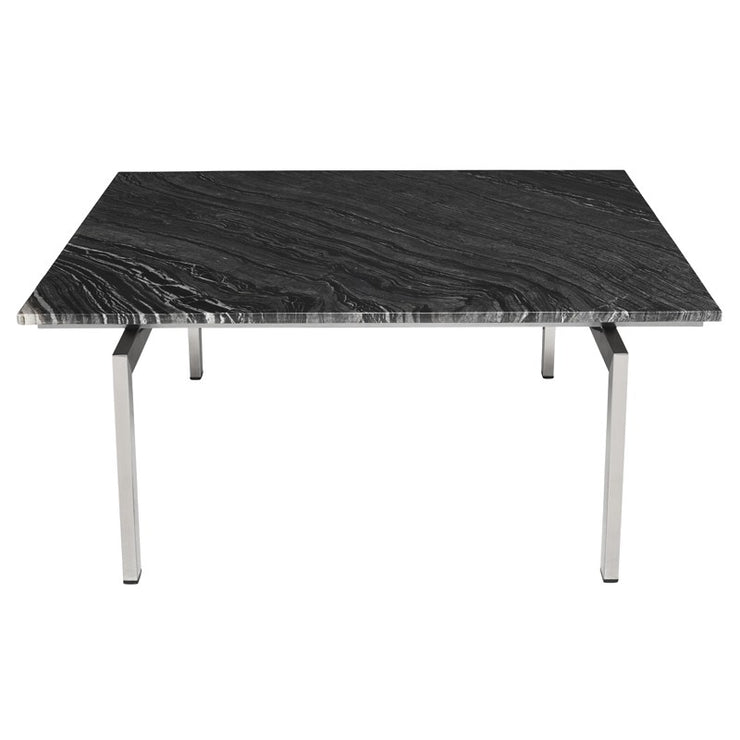 Louve Square Coffee Table - Black / Silver