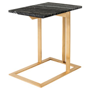 Dell Side Table - Black Wood Vein