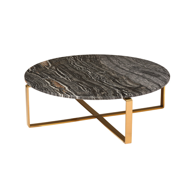 Rosa Coffee Table - Black Marble / Gold