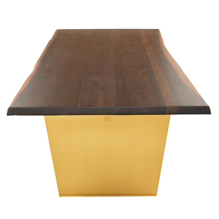 Aiden Dining Table - Seared / Gold
