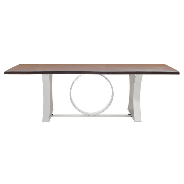 Orielle Dining Table - Seared / Silver