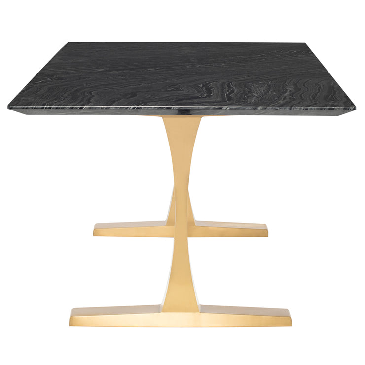 Toulouse Dining Table - Black Marble