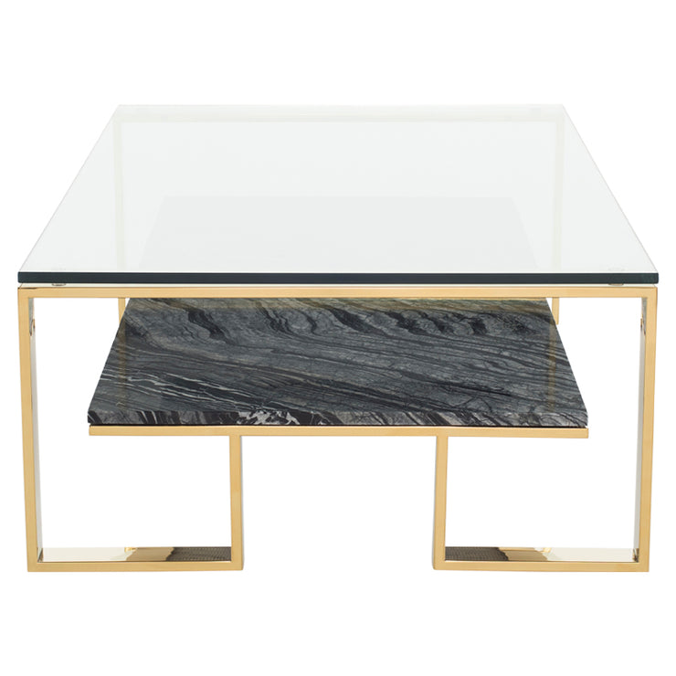 Tierra Coffee Table - Black Marble / Gold