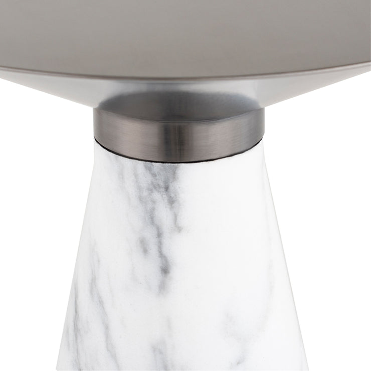 Iris Side Table - Graphite / White Marble