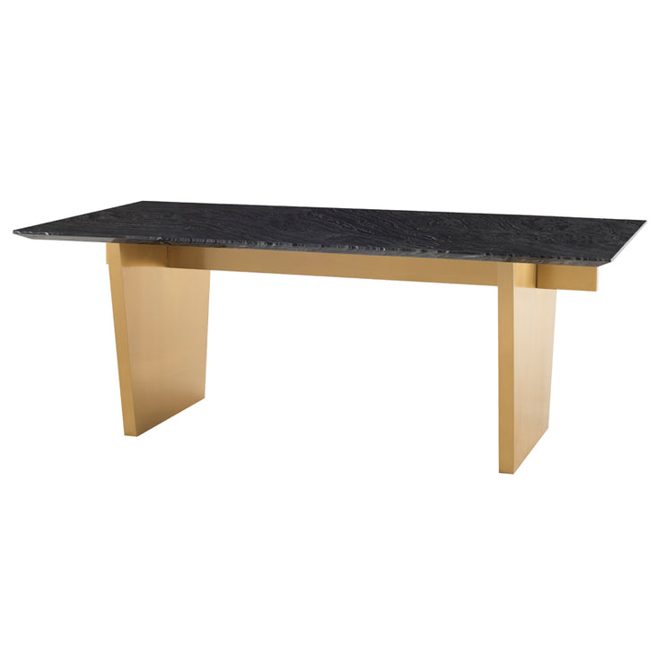 Aiden Dining Table - Black Marble