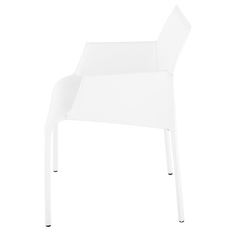 Delphine Dining Arm Chair - White