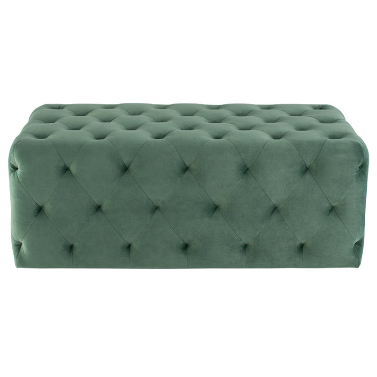 Tufty Rectangle Ottoman Sofa - Moss